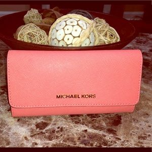 Michael Kors Pink Grapefruit Wallet